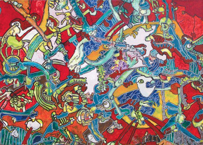 Cavadore-oeuvre-art-contemporain-artiste-contemporain-couleur-rouge