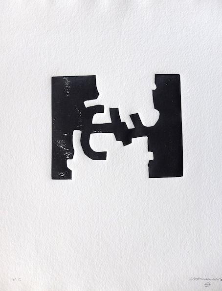 Oin-Hatz-eduardo-chillida-artiste-oeuvre-papier-bois-gravé-gravure-estampe-hors-commerce-sculpture