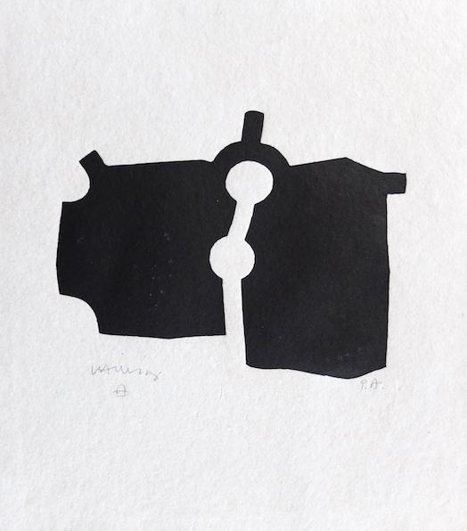 Zubi-Eduardo-Chillida-Bois-Gravé-oeuvre-papier-multiple-sculpture-noir-blanc-biarritz-basque