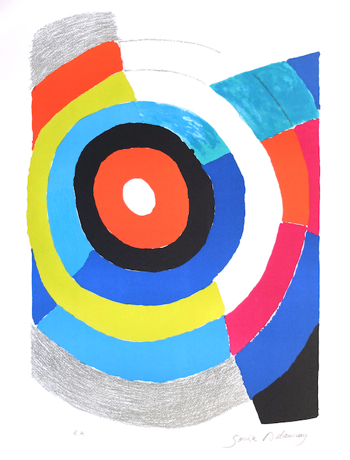 Lithographie-Sonia-Delaunay-Oeuvres-multiple-cercle-composition-couleurs-artiste-art-moderne