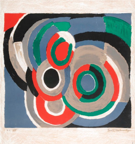Sonia-Delaunay-Hommage-Stravinsky-Oeuvre-Estampe-Lithographie-Réhaussée-Collection-Cercle-Art-Moderne-Paris-France