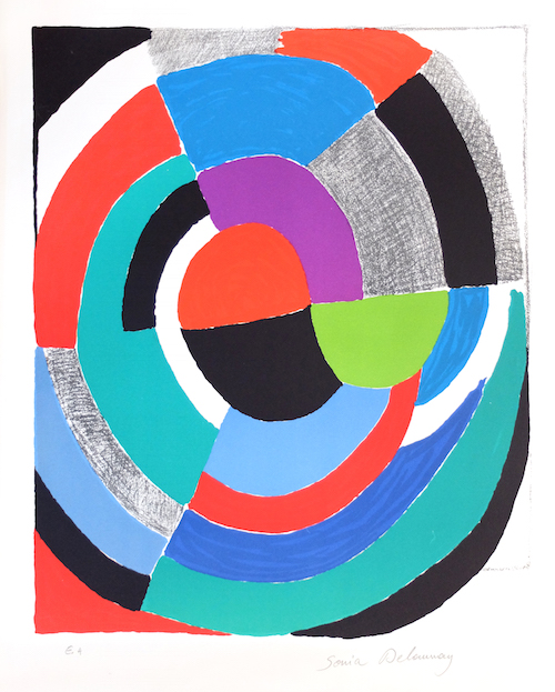 Oeuvres-Art-Moderne-Sonia-Delaunay-Rose-des-Vents-Artwork-Painting-Robert-Delaunay-Paris-France