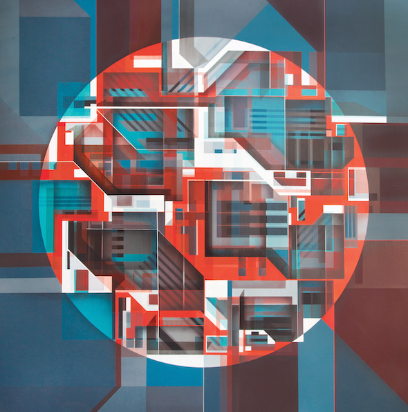 Swiz-Oeuvre-Graffiti-Artiste-Street-Art-Circle-Geometrie-Contemporain-Paris