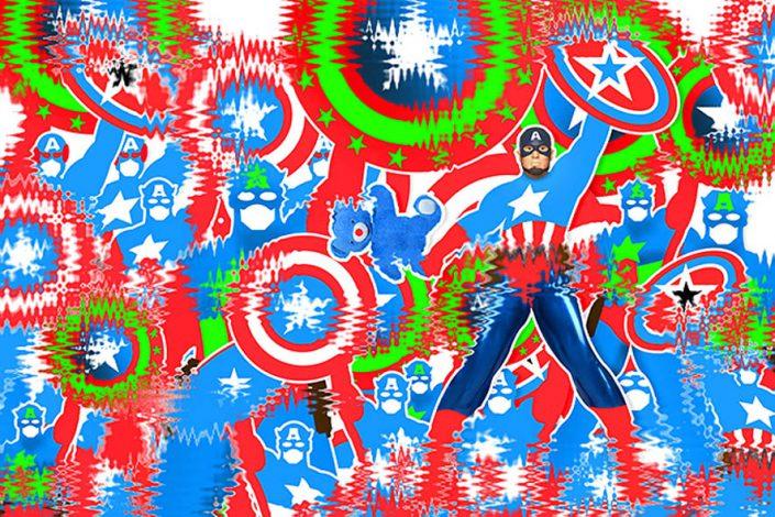 Captain-America-Art-Contemporain-Oeuvre-Numérique-Zirnheld-Artiste-France-Zirnheld