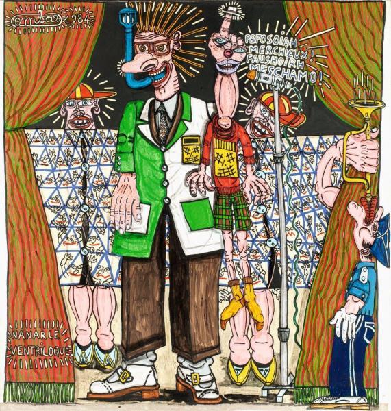 Vente-Publique-Robert-Combas-France-Prix-2017-Oeuvre-Peinture-1984-Figuration-Libre