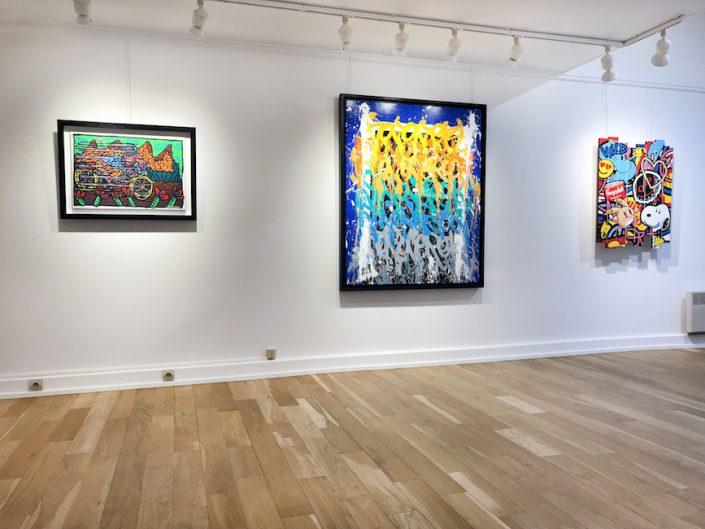 Art-Contemporain-Exposition-Oeuvres-Robert Combas-Jonone-Speedy-Graphito-Peinture-Biarritz-Paris