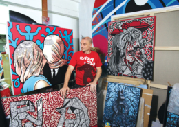 Speedy Graphito-street-art-atelier-artiste-contemporain-exposition-2019