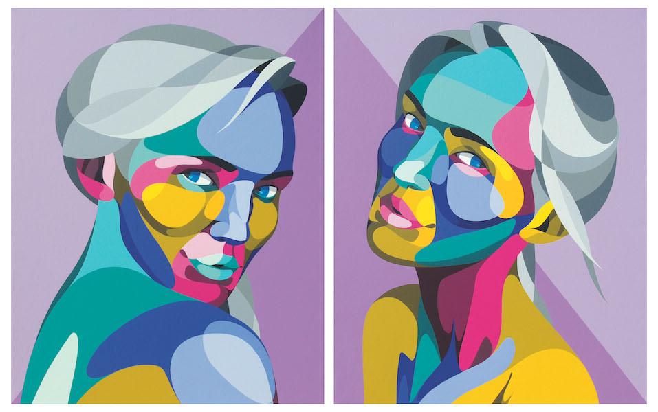 Alber-Streetart-Bordeaux-Graffiti-Oeuvre-Peinture-Toile-Portrait-Biarritz-Galerie