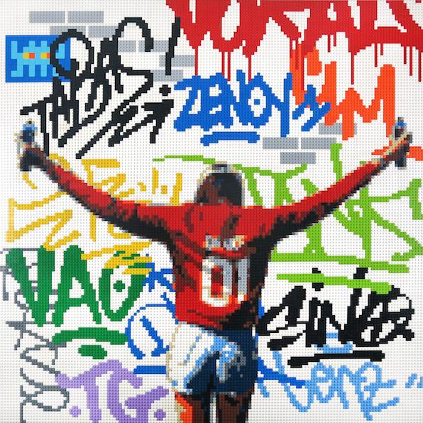 Lenz-Art-Oeuvre-Urbain-Briques-Lego-Art-Contemporain-Galerie-Biarritz-Bordeaux-Toulouse-Invader-Graffiti-Zenoy-Girl