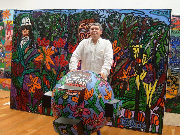Oeuvre-Robert-Combas-Artiste-Peintre-France-Paris-Art-Biarritz-fleur-forêt