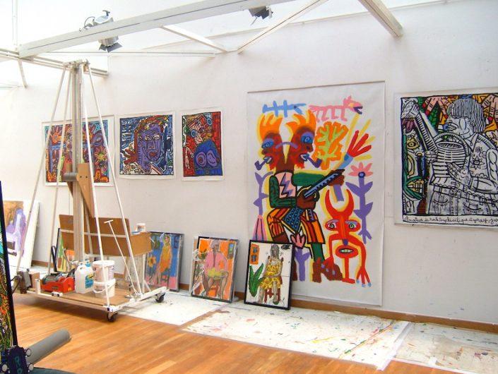 Robert-Combas-Art-Contemporain-France-Atelier-Portrait-Galerie-Paris-Biarritz-Oeuvre