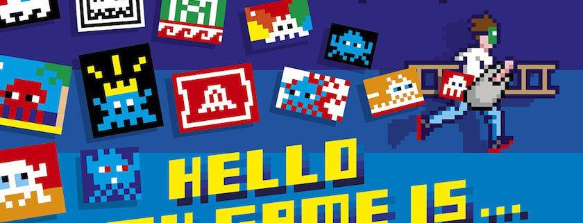 Hello my game is-Invader-Artiste-Exposition-Paris-Musée-en-Herbe-Street-Art