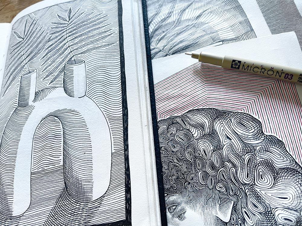 Atelier et dessin de Nicolas Le Borgne aka OdÖ